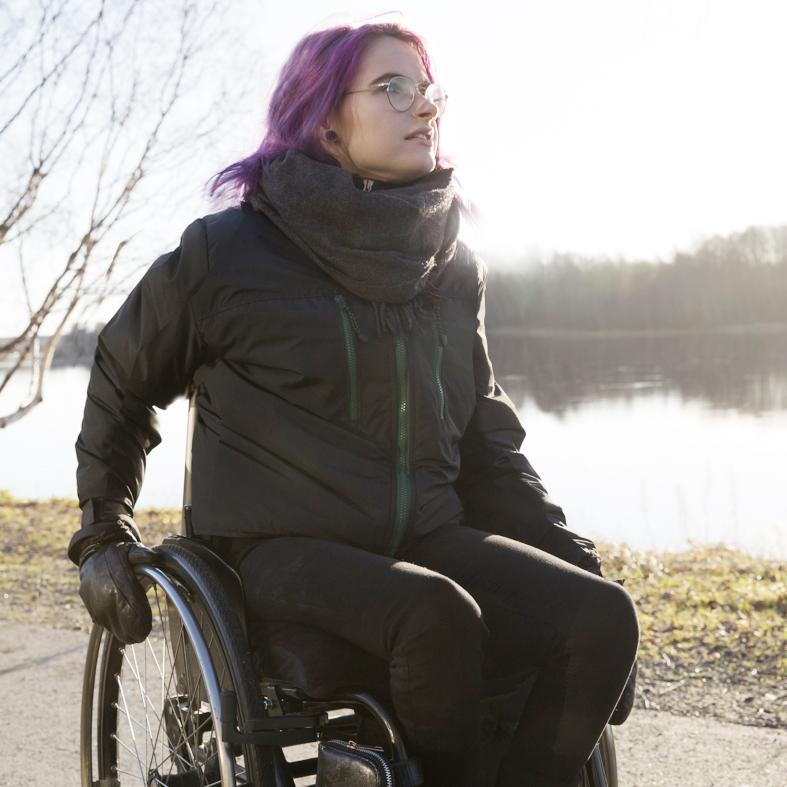 jackan passar dig som är rullstolsburen
